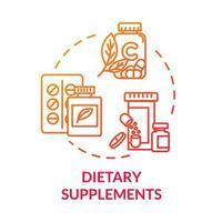 ícone do conceito de suplementos dietéticos vetor