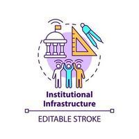 ícone do conceito de infraestrutura institucional vetor
