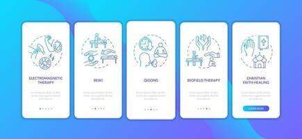 tratamento alternativo de integração da tela da página do aplicativo móvel com conceitos vetor