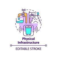 ícone do conceito de infraestrutura física vetor