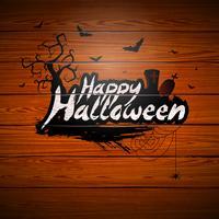 Feliz dia das bruxas, vetorial, ilustração