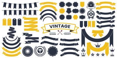 Logotipo de vetor Vintage da faixa de opções para banner