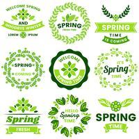 Primavera retrô Vintage Vector rótulo para banner