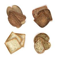 conjunto de fatias de pão diferentes vetor