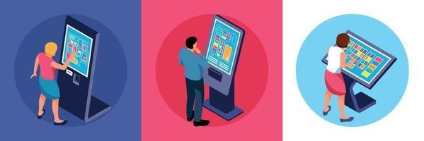 conceito de design de usuários de touchscreen vetor