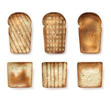 conjunto de diferentes tipos de pão vetor