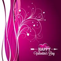 Vector a ilustração de dia dos namorados com design de tipografia em fundo violeta.