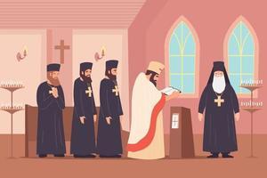 composição plana de adoração cristã vetor