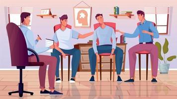 composição plana de psicoterapia de grupo vetor