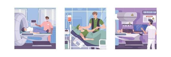 composições planas de oncologia vetor