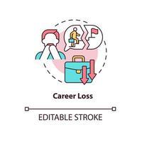ícone do conceito de perda de carreira vetor