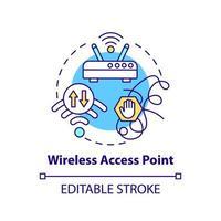 ícone de conceito de ponto de acesso sem fio vetor