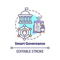 ícone do conceito de governança inteligente vetor
