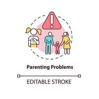 ícone de conceito de problema parental vetor