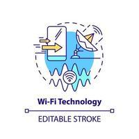 ícone do conceito de tecnologia wi-fi vetor