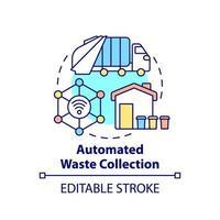 ícone do conceito de coleta automatizada de resíduos vetor