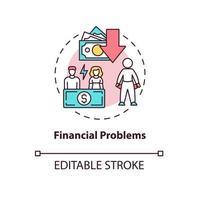 ícone do conceito de problema financeiro vetor
