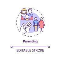 ícone do conceito de paternidade vetor