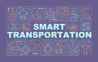 banner de conceitos de palavras de controle de transporte inteligente vetor