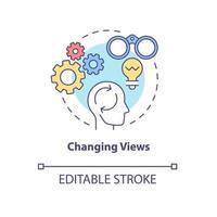 ícone de conceito de mudança de visualizações vetor