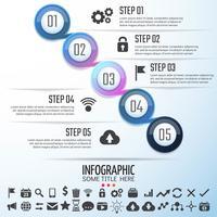 Modelo de design de infográficos de círculo vetor