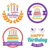 Feliz aniversário Vector Logo para banner