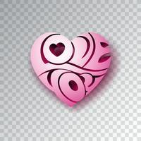 Fundo de dia dos namorados com amor você coração vetor