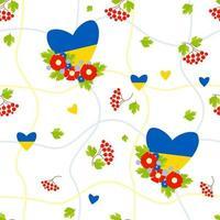 padrão sem emenda. padrão de grade geométrica com flores e coração vetor