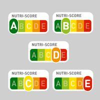 Etiquetas oficiais da Nutri-Score vetor