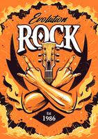 Modelo de Design de cartaz de rock vetor
