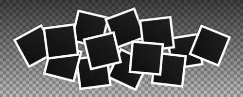 conjunto de molduras quadradas de vetor. vetor