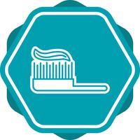 Ícone cheio de escova de dente vetor