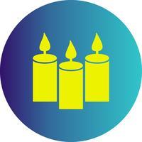 ícone de velas de vetor