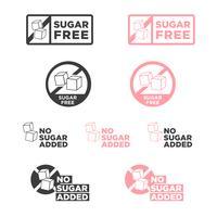 Ícone livre de açúcar. vetor
