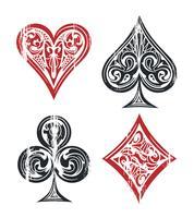 Símbolos de cartas de jogar vetor
