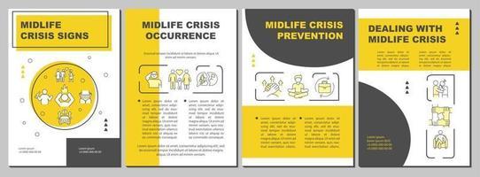 modelo de folheto de prevenção de crise de meia-idade vetor