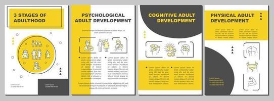modelo de folheto de desenvolvimento psicológico para adultos vetor