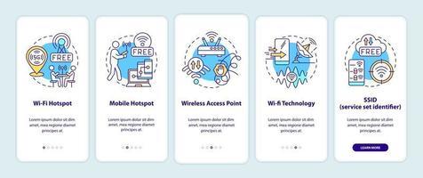 tela da página do aplicativo móvel de integração de acesso à cidade inteligente vetor
