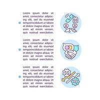 mensagens online beneficiam ícones de linha de conceito com texto vetor