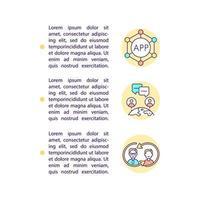 ícones de linha de conceito global de comunicação online com texto vetor