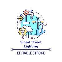 ícone do conceito de iluminação de cidade inteligente vetor