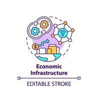 ícone do conceito de infraestrutura econômica vetor