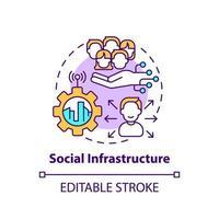 ícone do conceito de infraestrutura social vetor