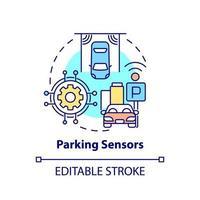 ícone do conceito de sensores de estacionamento vetor