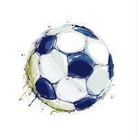 Bola de futebol do grunge vetor