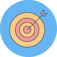 ícone de alvo de vetor