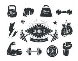 Retro elementos de fitness
