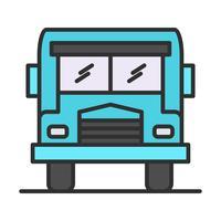 Ícone preenchido de linha de ônibus vetor
