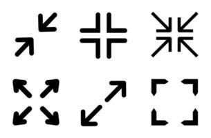 maximizar o conjunto de ícones - ilustração vetorial. vetor