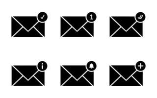 conjunto de ícones de e-mail - ilustração vetorial. vetor
